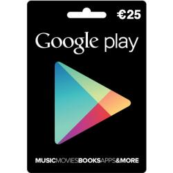 Google Play card t.w.v. 25 euro